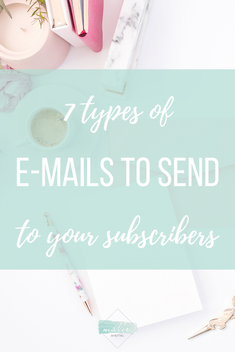7 types of emails to send to your subscribers
